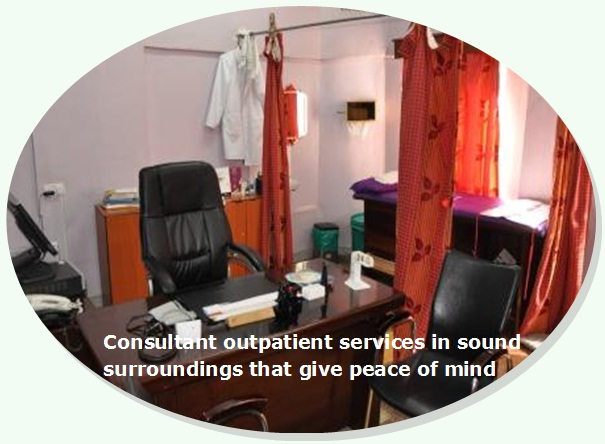 Consultant outpatient rooms